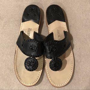 Jack Rogers Classic Jacks Flat Sandals, Black